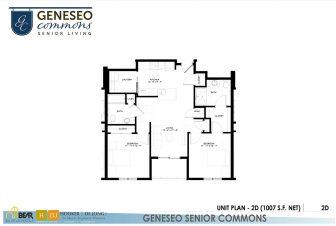 2 bedroom apartment, geneseo commons, senior apartments in kenosha
