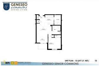 1 bedroom apartment, geneseo commons, senior apartments in kenosha